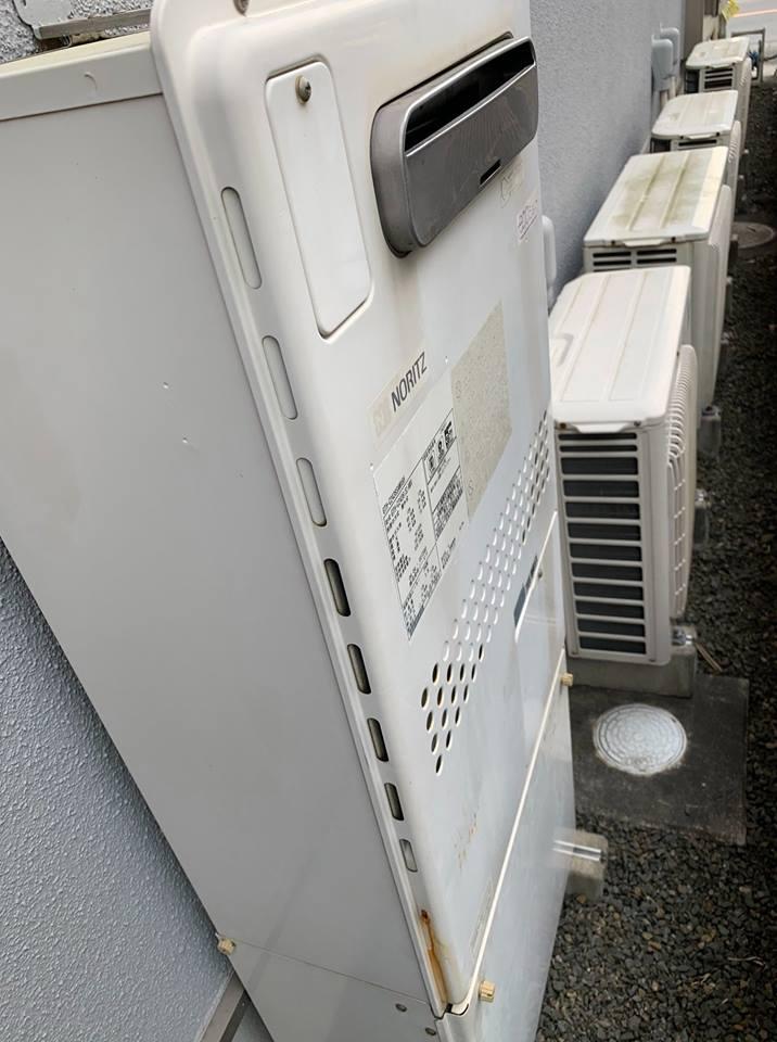 静岡市にて給湯器工事の現場調査+工事のご依頼