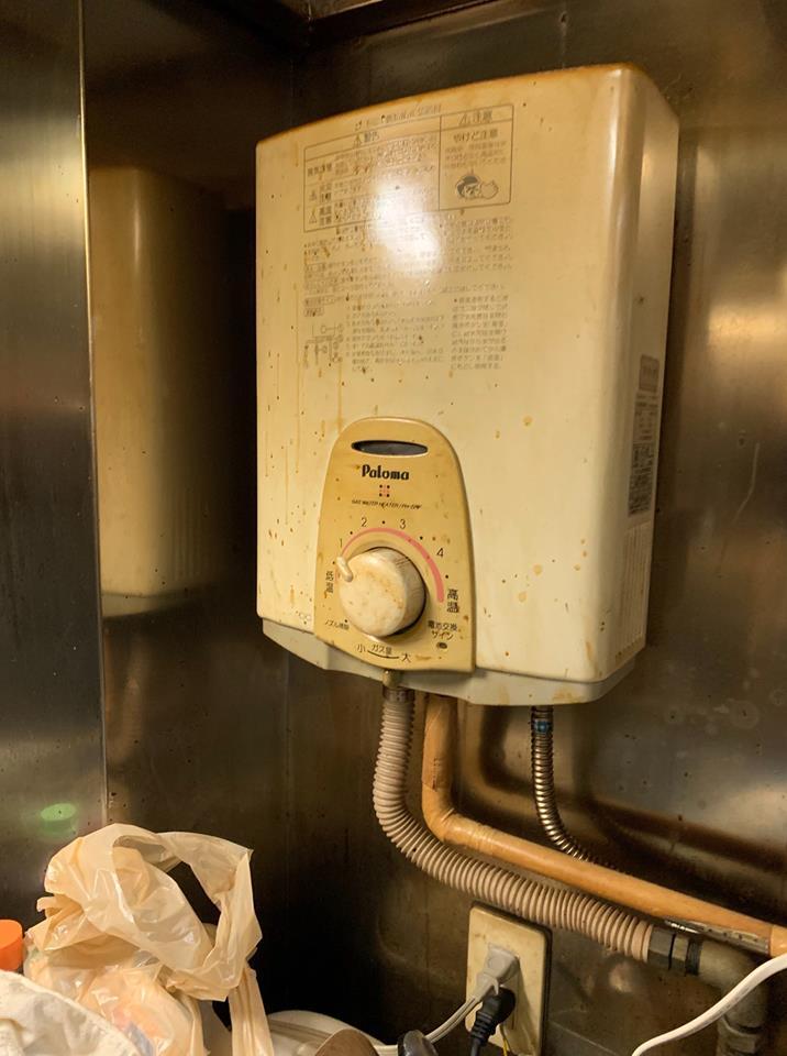 静岡市にて瞬間湯沸かし器交換工事のご依頼