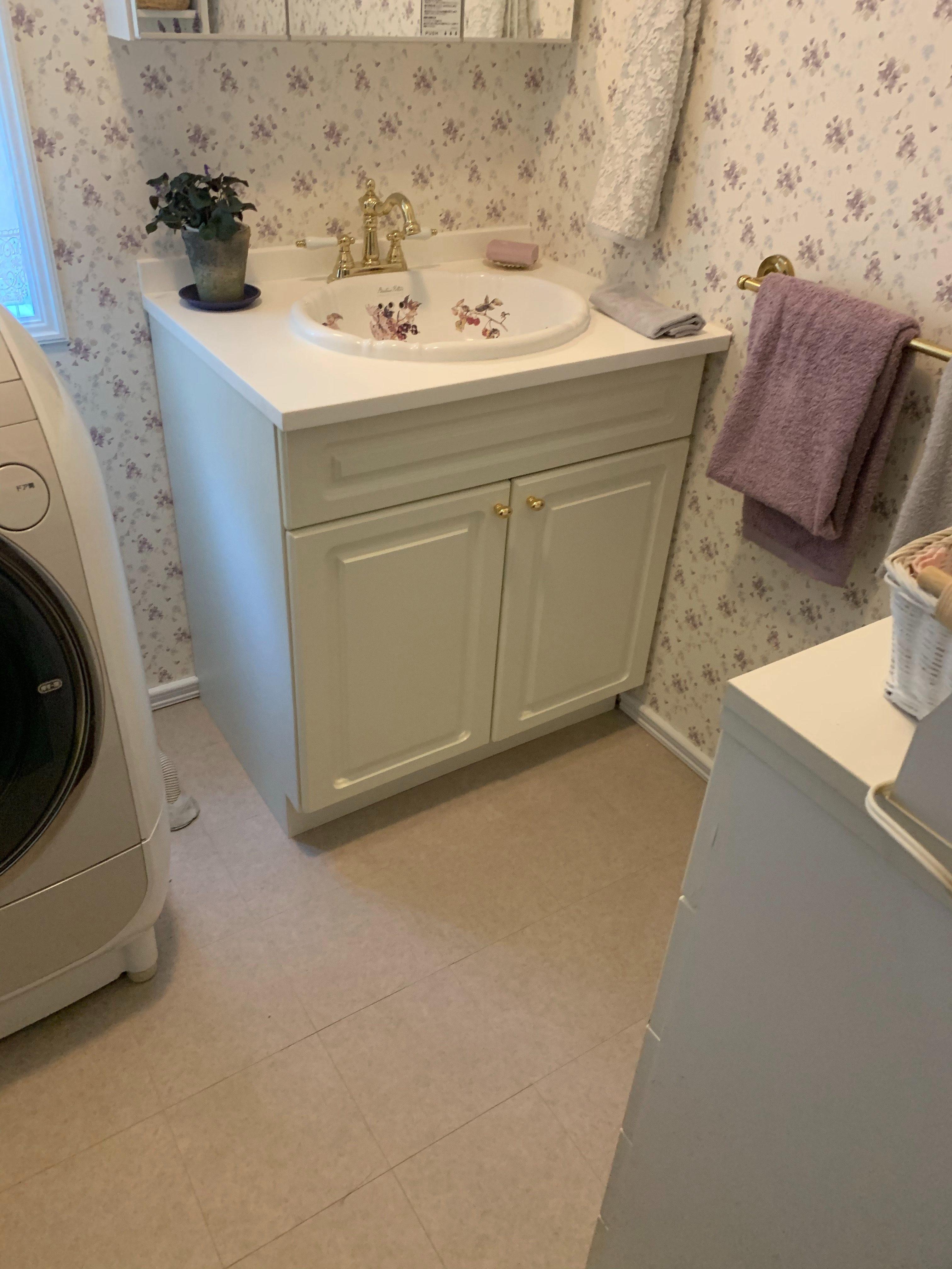 静岡市にて洗面台リフォーム無事工事完了